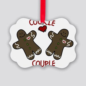 Cookie Couple Picture Ornament