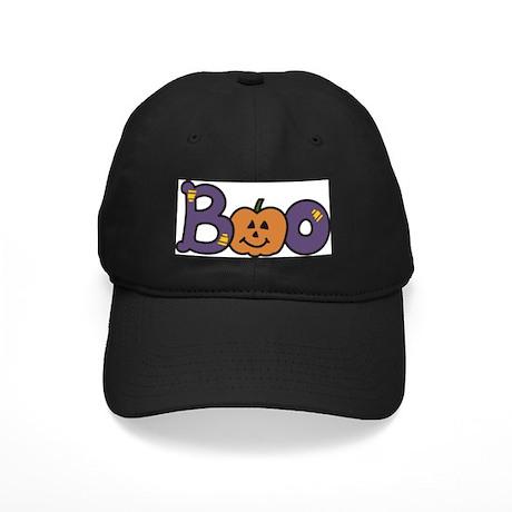 Halloween Boo Black Cap