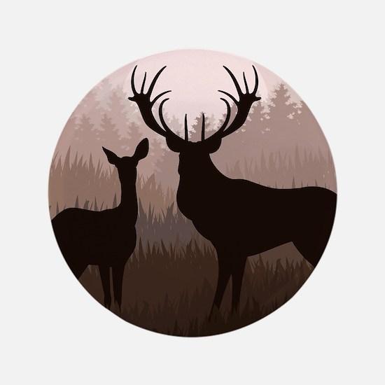 """Deer 3.5"""" Button"""