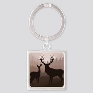 Deer Square Keychain