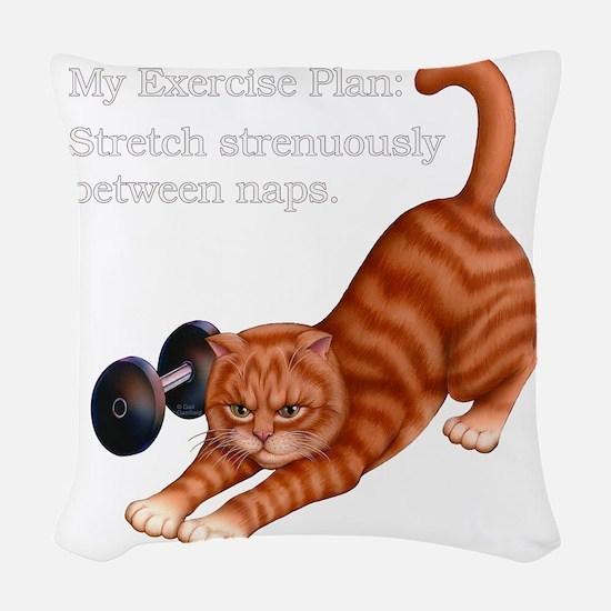 Exercise Plan B Woven Throw Pillow