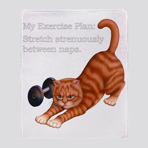 Exercise Plan B Throw Blanket