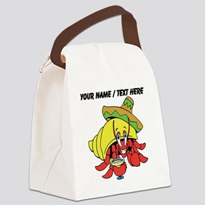 Custom Mexican Hermit Crab Canvas Lunch Bag