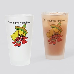 Custom Mexican Hermit Crab Drinking Glass