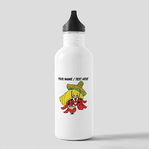 Custom Mexican Hermit Crab Water Bottle