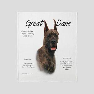 Great Dane (brindle) Throw Blanket