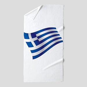 Greek Flag Beach Towel