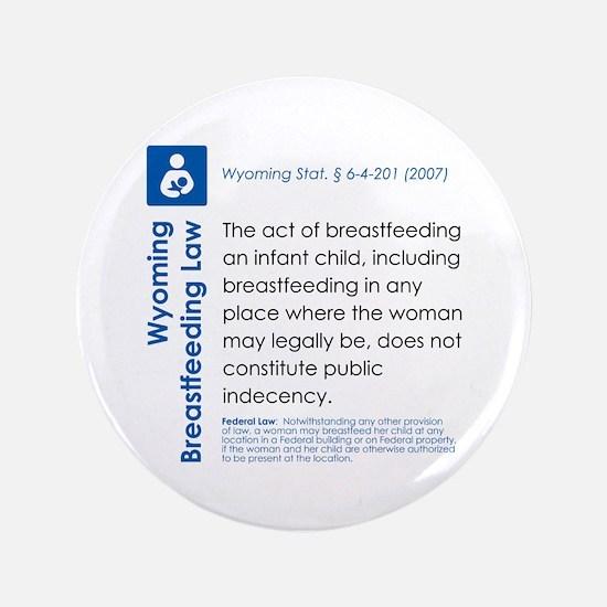 "Breastfeeding In Public Law - Wyoming 3.5"" Button"