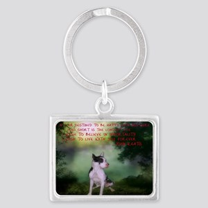 Thru the shadows (w/quote) Landscape Keychain