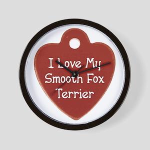 Love My Foxie Wall Clock