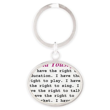malalas rights 1 Oval Keychain