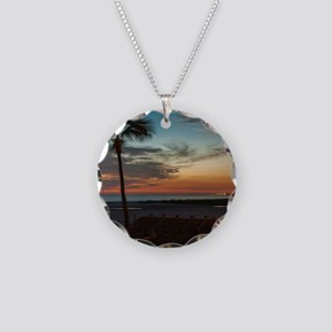 Summer Breeze Necklace Circle Charm