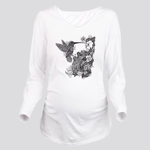 Hummingbird Long Sleeve Maternity T-Shirt