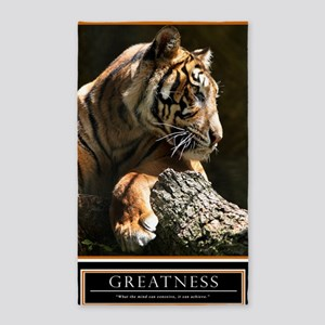 Greatness Motivational Poster 23x35 3'x5' Area Rug