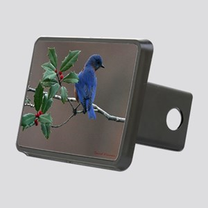 Bluebird in Holly Rectangular Hitch Cover