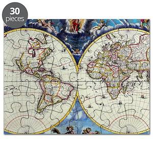 Antique World Map Puzzle.Antique World Maps Products Cafepress
