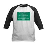 Don't feed the baboons! Kids Baseball Jersey