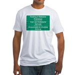 Don't feed the baboons! Fitted T-Shirt