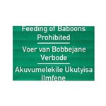 Don't feed the baboons! Rectangle Magnet (100 pack