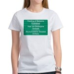 Don't feed the baboons! Women's T-Shirt