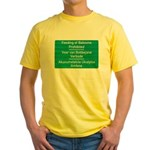 Don't feed the baboons! Yellow T-Shirt