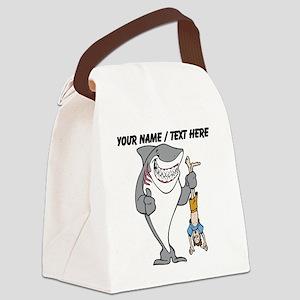 Custom Shark Bully Canvas Lunch Bag