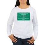 Don't feed the baboons! Women's Long Sleeve T-Shir