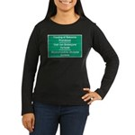 Don't feed the baboons! Women's Long Sleeve Dark T