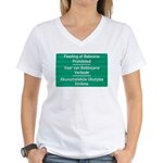 Don't feed the baboons! Women's V-Neck T-Shirt