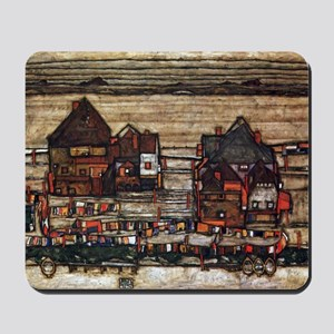 Egon Schiele Houses with laundry lines Mousepad