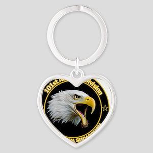 101st Airborne Heart Keychain