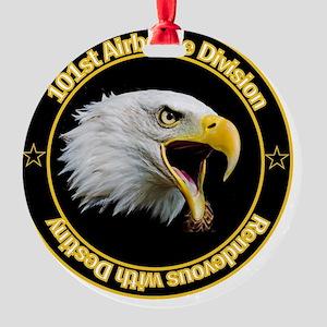 101st Airborne Round Ornament