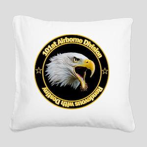 101st Airborne Square Canvas Pillow