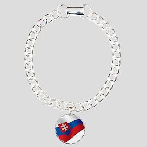 Slovakia Flag Bracelet