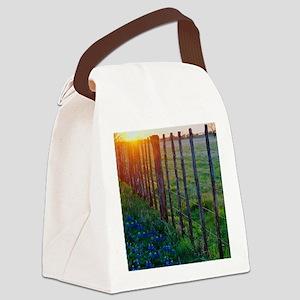 bb sun set 5x7 Canvas Lunch Bag