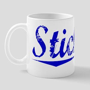 Stickley, Blue, Aged Mug