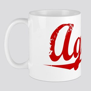Agnew, Vintage Red Mug