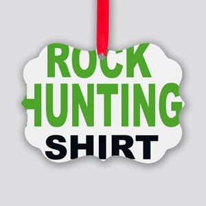 ROCK HUNTING SHIRT Picture Ornament