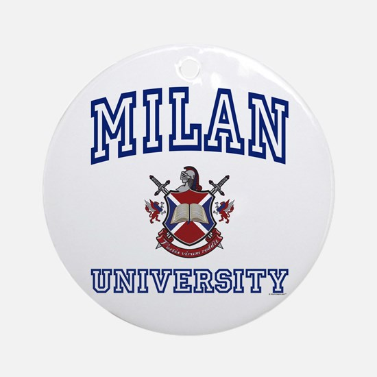 MILAN University Ornament (Round)