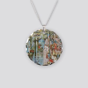 Maurice Prendergast Venice G Necklace Circle Charm