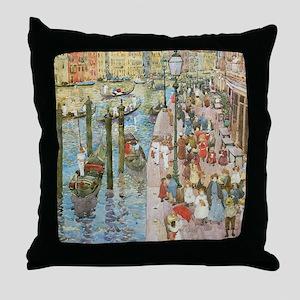 Maurice Prendergast Venice Grand Cana Throw Pillow