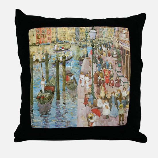 Maurice Prendergast Venice Grand Cana Throw Pillow