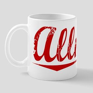 Allman, Vintage Red Mug