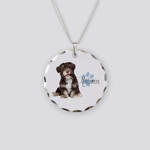 Havanese Puppy Necklace Circle Charm