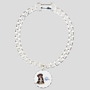 Havanese Puppy Charm Bracelet, One Charm