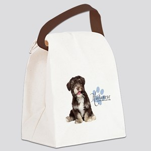 Havanese Puppy Canvas Lunch Bag