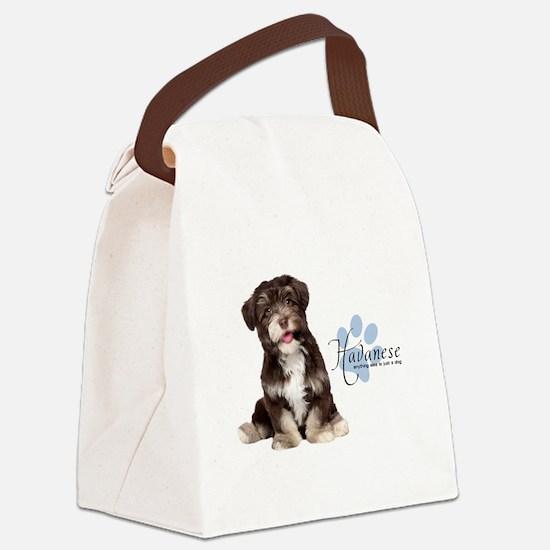 Havanese Puppy Canvas Lunch Bag
