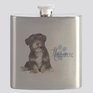 Havanese Puppy Flask