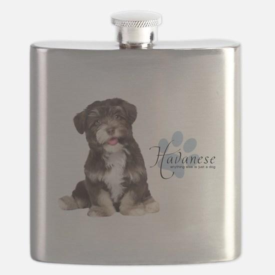 Havanese Puppy Flask