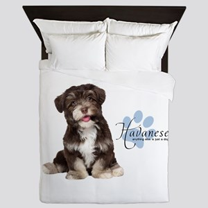 Havanese Puppy Queen Duvet